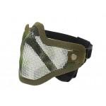 Steel protective half face mask V.1 - Olive/Camo