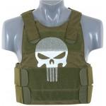 8FIELDS Vesta protectie Skull Punisher Kaki